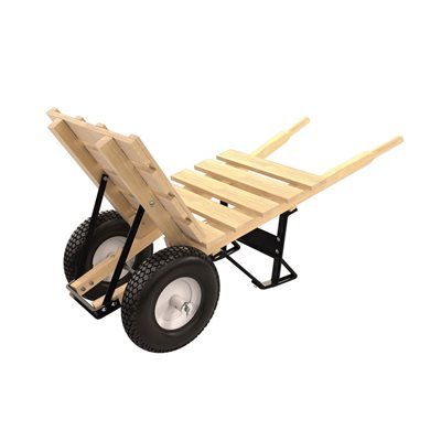 BRICK & TILE BARROW - DOUBLE KNOBBY TIRE WOOD HANDLE