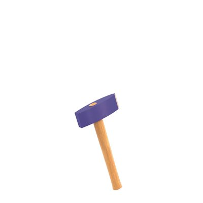 STONE MASON HAMMER - 6 LB WITH WOOD HANDLE
