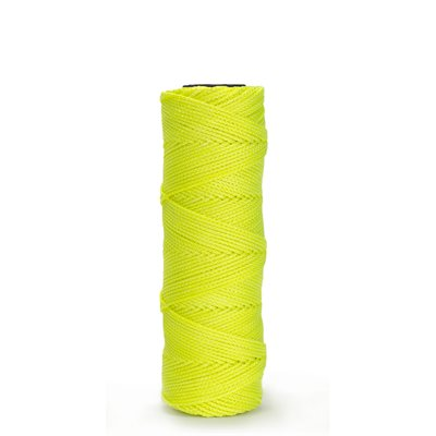 EZC BRAIDED NYLON LINE - 250' NEON YELLOW
