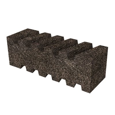 "FLUTED RUB BRICK - 6"" x 2"" x 2"" - 20 GRIT"