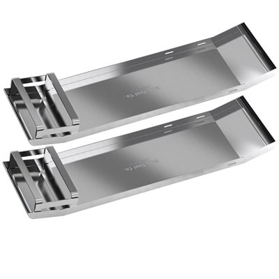 KNEE BOARDS - STAINLESS STEEL CURVED END (PAIR)