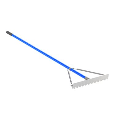 "SHARP TOOTH LUTE RAKE - 24"" WITH 6' HANDLE"