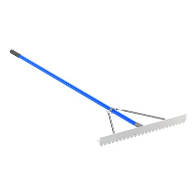 "BLUNT TOOTH ASPHALT LUTE RAKE - 36"" WITH 6' HANDLE"