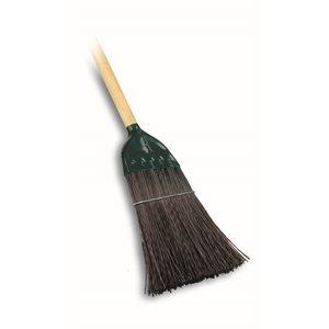 "UTILITY BROOM - HEAVY DUTY 10"" WITH WOOD HANDLE"