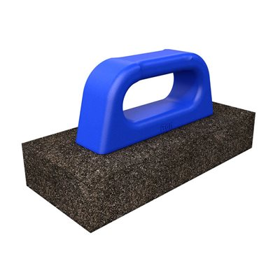"RUB BRICK - 8"" x 3 1/2"" x 3/4"" - 20 GRIT WITH PLASTIC HANDLE"