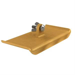 "BRONZE WALKING EDGER - 9"" x 4"" - 1/4"" RADIUS  3/4"" LIP"