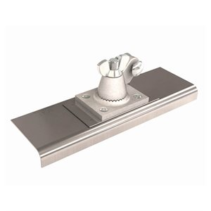 "STAINLESS STEEL ALL ANGLE WALKING  EDGER - 10"" x 3"" - 3/8"" RADIUS  3/4"" DEPTH"