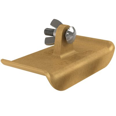 "BRONZE WALKING EDGER - 6"" x 2 3/4"" - 1/4"" RADIUS 5/8"" LIP"