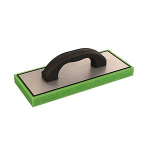 "GREEN FOAM FLOAT - 5"" x 12"" x 1"" - PLASTIC HANDLE"