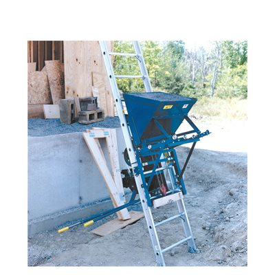 GRAVEL HOPPER FOR LADDER HOIST