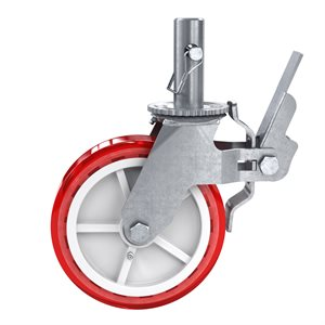 "SCAFFOLD CASTER - 8"" DIAMETER WITH  1 3/8"" STEM"