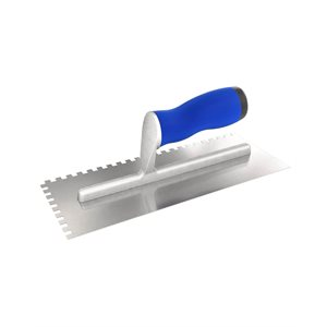 SQUARE NOTCHED TROWELS WITH COMFORT GRIP HANDLE
