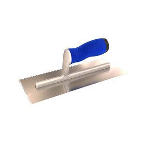 V NOTCHED TROWELS WITH COMFORT GRIP HANDLE