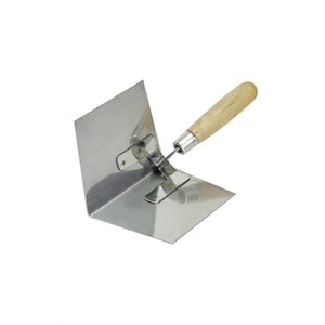 "INSIDE CORNER TROWEL - SS 4"" x 5"" to 4 1/2""- WOOD HANDLE"