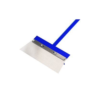 "FLOOR SCRAPER - 14"" STEEL ANGLE CUT BLADE - 5' STEEL HANDLE"