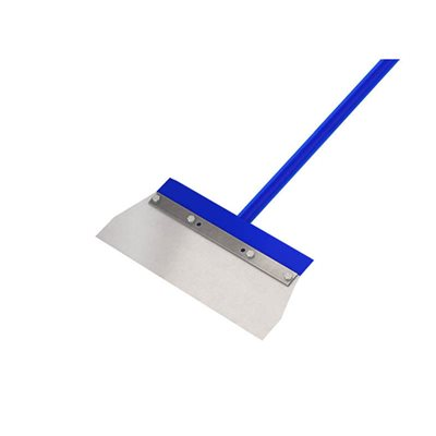 "FLOOR SCRAPER - 13 1/2"" STEEL SQUARE CUT BLADE - 5' STEEL HANDLE"