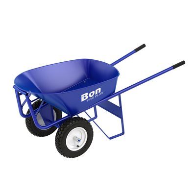 ROOFER'S BARROW - 6 CU FT STEEL TRAY - DOUBLE WHEEL RIBBED