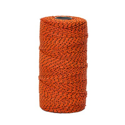 BLUE BAYOU™ BONDED BRAIDED NYLON LINE -685' - ORANGE/BLACK FLECKS