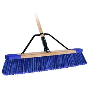 "PAVER BROOM - 24"" STIFF BRISTLE WITH 5' WOOD HANDLE"