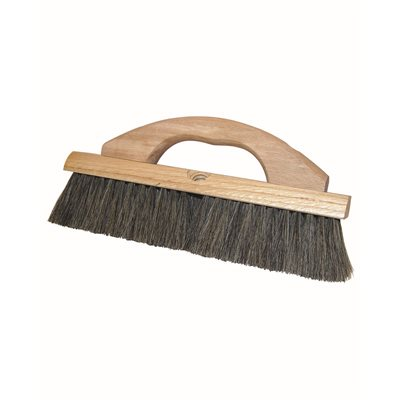 "SOFT FINISH BLOCK BRUSH - 12"" SOFT HORSEHAIR WITH WOOD HANDLE"