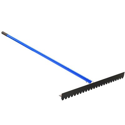 "BLUNT TOOTH T-CONNECTOR LUTE RAKE - 36"" WITH 6' HANDLE"
