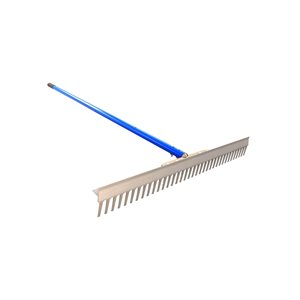 "T CONNECTOR LANDSCAPE RAKE - 36"" WITH 6' ALUMINUM HANDLE"