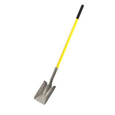 "CLOSED BACK SHOVEL - SQUARE POINT WITH 48"" FIBERGLASS HANDLE"