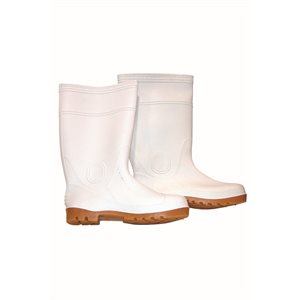 WHITE CONCRETE PLACER BOOTS