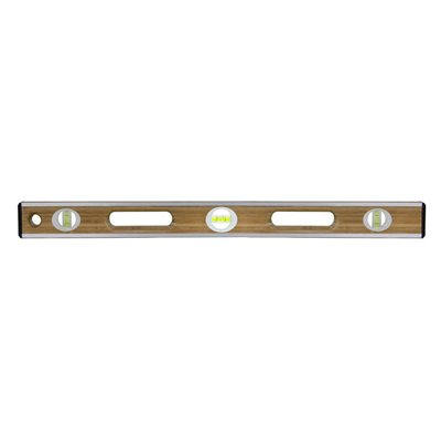 "BAMBOO WOOD LEVEL - 24""  ALUMINUM ""I"" BEAM"