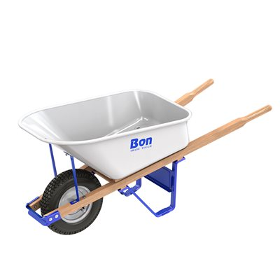 Trade Tough Steel Tray Wheel Barrow 6 Cu Ft Single