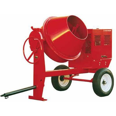 CONCRETE MIXER - 9 CU FT WITH 1.5 HP ELECTRIC 115/230V