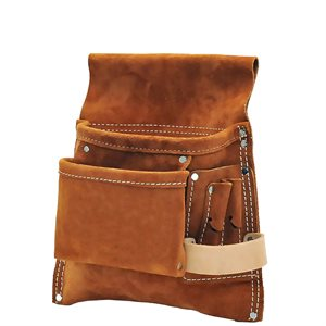 NAIL & TOOL BAG - 5 POCKET SPLIT LEATHER