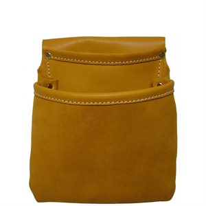 ROOFER NAIL BAG - 2 POCKET MOCCASIN LEATHER