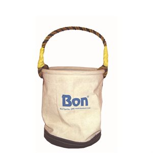 CANVAS TOOL BUCKET- ECONO WITH LEATHER BOTTOM