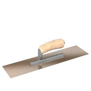 GOLDEN STAINLESS STEEL FINISHING TROWELS - SQUARE END - SHORT SHANK