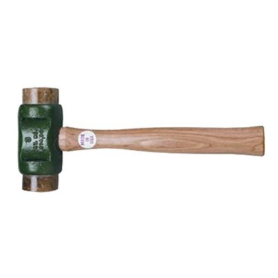 SOLID HEAD HAMMER WITH RAWHIDE FACE - 4 LB