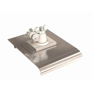 "STAINLESS STEEL WALKING EDGER/GROOVER - 6"" x 8"" BIT 1/4"" X 1/2"" - 3/4"" RADIUS"