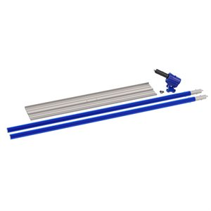 "MAGNESIUM 2 HOLE BULLFLOAT KIT - 48"" x 8"" SQUARE END WITH WORMGEAR BRACKET AND (2) 6' HANDLES"