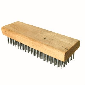 "WIRE BRUSH - STRAIGHT BACK - 7 1/4"" x 2 1/4"""