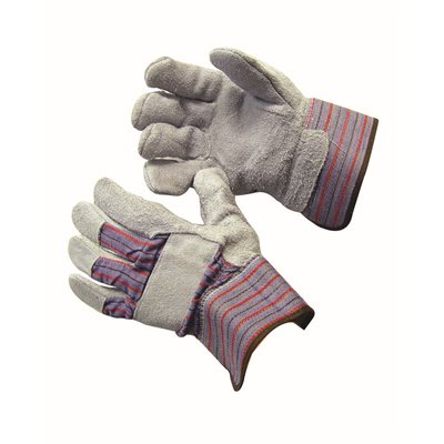 LEATHER PALM GLOVES - LARGE (12 PAIR/PKG)