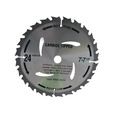 CIRCULAR SAW BLADE - CARBIDE 7 1/4""