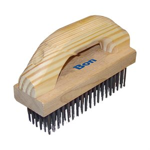 "WIRE BRUSH - 7 1/8"" x 2 1/4"" WITH WOOD HANDLE"