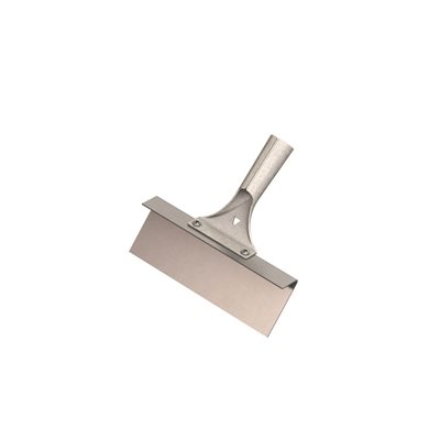 "STEP SCRAPER WITH BRACKET - 8"" STAINLESS STEEL"