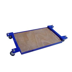 ROLLING MATERIAL DOLLY - WOOD DECK
