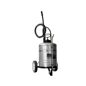SPRAYER WITH CART - STAINLESS STEEL - 6 GALLON