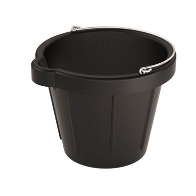 HEAVY DUTY RUBBER PAIL WITH POURING LIP - 12 QT