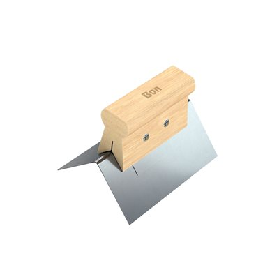 "OUTSIDE CORNER TOOL - SS 1/8"" - WOOD HANDLE"
