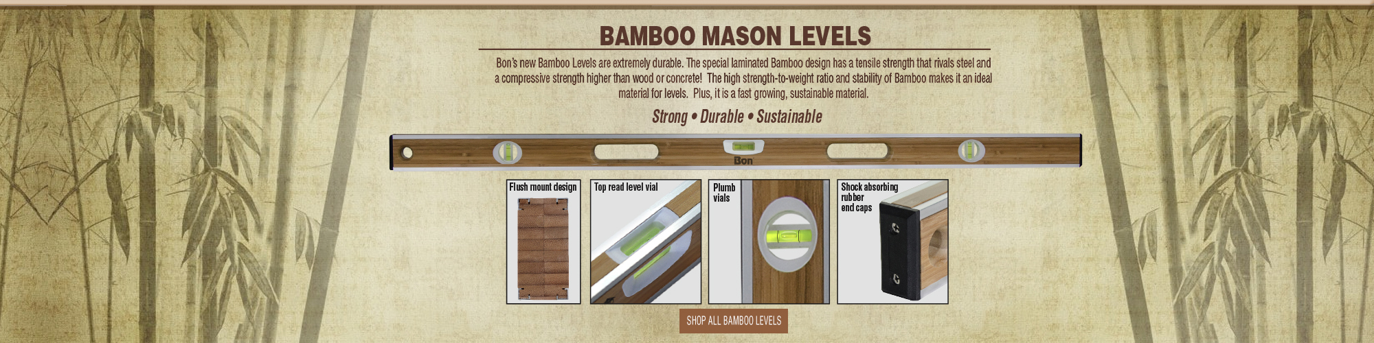 Bamboo Mason Levels by Bon