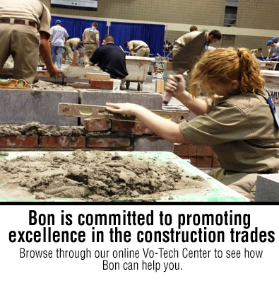 Bon is commited to promoting excellence in the construction trades